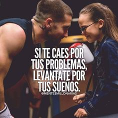 """""""If you fall for your problems, get up for your dreams … – Hair Design Ideas Motivational Phrases, Inspirational Quotes, Motivacional Quotes, Rich Quotes, Millionaire Quotes, Spanish Quotes, Sentences, Positive Quotes, Positive Messages"""