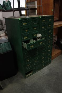 Here you go: This card catalog was already reused in a garage or workshop. How will you #reuse it?