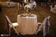 Bride and groom's table to enjoy their dinner during their Destin wedding reception.