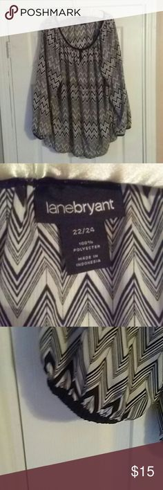 Lane Bryant 22/24 Chevron Tunic Keyhole Top Lane Bryant 22/24 Chevron Tunic Top. Nwot Beautiful pattern and a great fabric that feels so smooth. Front keyhole detail brings this top over the top in style.   ??Please take a look at my other items all Lane Bryant cloths below $15.?? Lane Bryant Tops Tunics