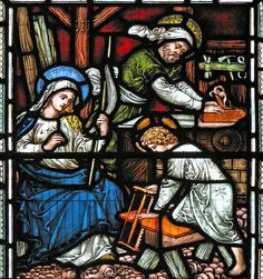 The Holy Family engaged in Work / http://www.contactchristians.com/the-holy-family-engaged-in-work/