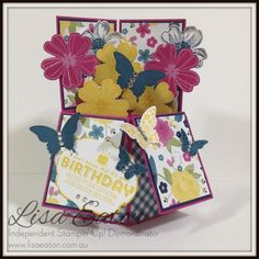 Gingham Garden Card In A Box by Lisa Eaton