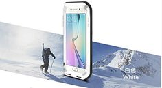 Samsung Galaxy S6 Edge Case Love Mei Shockproof Waterproof Dustdirtsnow Proof Aluminum Metal Gorilla Glass Protection Case Cover for Samsung Galaxy S6 Edge White >>> Check out the image by visiting the affiliate link Amazon.com on image.