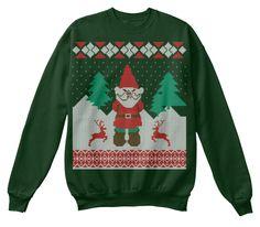 Funny Christmas Jumper Deep Forest  Sweatshirt Front