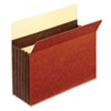 "Desk Supplies>Desk Set / Conference Room Set>Holders> Files & Letter holders: Heavy-Duty File Pockets, Straight Cut, 5 1/4"" Expansion, Letter, Redrope, 10/Box"