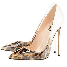 VOCOSI Women's Zej Gradient Pointed Toe Stiletto Patent L...