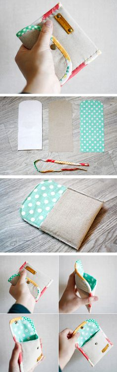Coin Purse DIY tutorial in pictures. What a cute and simple idea. www.handmadiya.co...