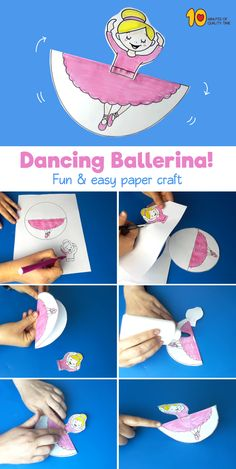 Rocking Crafts - Dancing Ballerina! #kidsprintables #kidsactivities #kidscrafts#papercraft