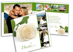 """Foto - Dankeskarten - Sagen Sie Danke - Rose in weiß So schön können Sie Ihren Gästen nach der #Hochzeit """"DANKE!"""" sagen."""