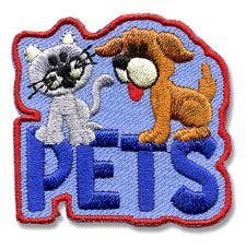 Pets Patch from Snappy Logos.  We will give this patch to the scouts who come help us make dog treats and toys for the local shelter.  $.74/ each