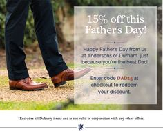 Have you sorted dear Dad's Fathers Day present yet? Here's a little help from us x