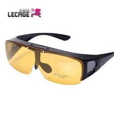 Lucky myopia polarized sunglasses driver mirror night vision goggles glasses sunglasses clip mirror