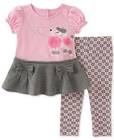 Pour Bébé Filles Rose Summer Top /& Floral Leggings Tenue 0-24 mois