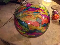 Alcohol ink bowl....another creation