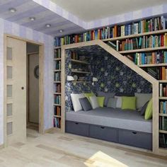 I want a home library. with a reading nook. I want a home library. with a reading nook. Small Home Libraries, Home Library Rooms, Home Library Design, Library Ideas, Home Library Decor, Library Study Room, Cozy Library, Study Room Design, Library Bedroom