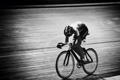 HEAD DOWN   Another cool shot from Luke Markof.  This one was snapped at a Brunswick Cycling Club race meet at the DISC Velodrome.