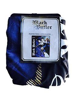 """Black Butler 50"""" x 60"""" Velveteen Throw Holding Sebastian ... http://amzn.to/2tSXG4X"""