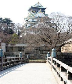 Osaka Castle view from the Paradise Bridge