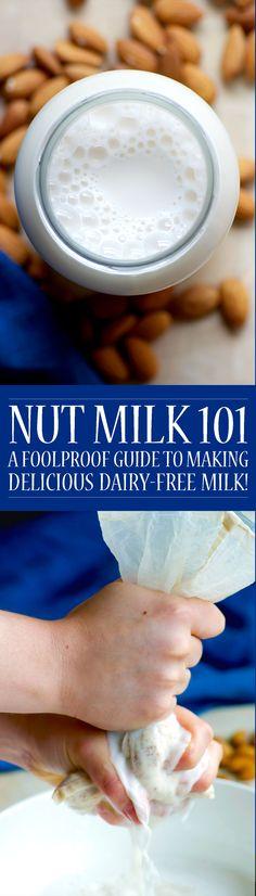 Nut Milk 101! Easy, foolproof nut milk recipe by Homespun Capers (vegan, raw, sugar free, paleo).