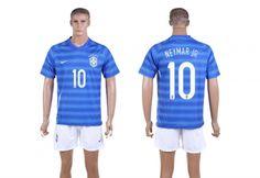 2014 World Cup Maillot Brésil Neymar Jr 10 Extérieur