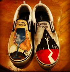 Sleeping With Sirens // Both Album Shoes! My band + vans = perfection.