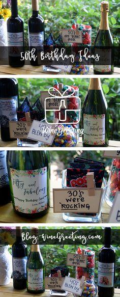 Custom Wine Bottles Custom Wine Bottles, Custom Wine Labels, 50th Birthday, Happy Birthday, Personalized Wine Bottles, Berries, Personalized Wine Labels, Happy Brithday, 50th Anniversary