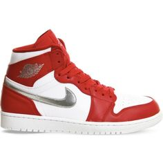 huge selection of 075a3 4912f NIKE Air Jordan 1 Retro leather high-top trainers ( 150) ❤ liked on