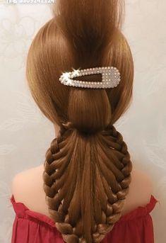 Hairdo For Long Hair, Haircuts For Medium Hair, Hair Up Styles, Ponytail Styles, Braids Hairstyles Pictures, Braided Hairstyles, Hair Style Vedio, Hair Art, Hair Videos