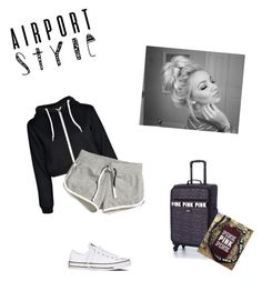 """""""Messy hair don't care"""" by highpoint ❤ liked on Polyvore featuring Converse, Boohoo, H&M and Victoria's Secret PINK"""