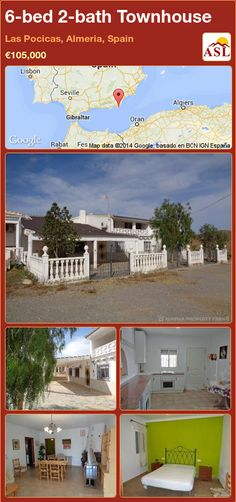 Townhouse in Las Pocicas, Almeria, Spain Single Bedroom, Double Bedroom, Semi Detached, Detached House, Steep Staircase, Porch Area, Shower Cubicles, Ground Floor, Property For Sale
