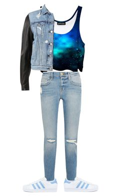 """""""Niki from niki and Gabi style"""" by littlefancyfashion ❤ liked on Polyvore featuring rag & bone, Frame and adidas"""