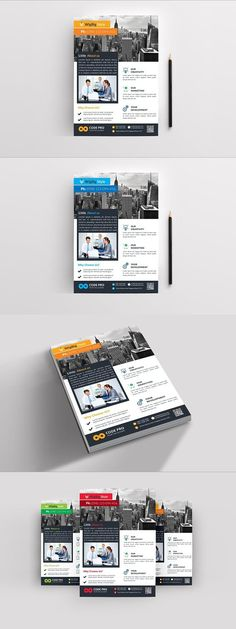 Corporate Business Flyer Corporate Branding, Corporate Business, Flyer Design Templates, Flyer Template, Photoshop Shapes, Leaflets, Brochures, A5, Flyers