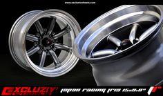 "Jante Japan Racing JR19. Dimension : 15x9.0"". Finition : Gunmetal bord poli. www.excluzivwheels.com"