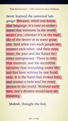 From The Alchemist- best love quote ever <3