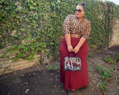 Chastity of Garner Style sporting our Haylee Maxi Skirt & Cecilia Blouse Look Plus Size, Plus Size Girls, Plus Size Women, Curvy Girl Fashion, Look Fashion, Modest Fashion, Plus Size Fashion For Women, Plus Fashion, Fashion Ideas