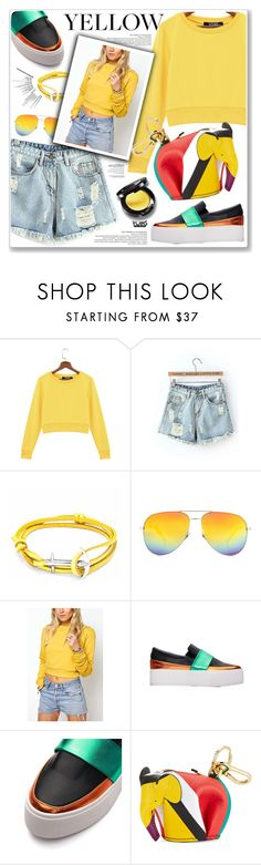 """""""LOVE YOINS"""" by nanawidia ❤ liked on Polyvore featuring Anchor & Crew, Yves Saint Laurent and Loewe"""