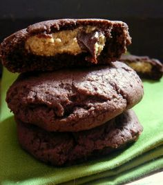 vegan peanut butter filled chocolate cookie recipe