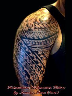 Freehand Polynesian Tattoo Done By Arauna Mara @ HeimatauraPolynesianTattoo.com