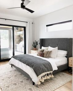 A modern take on traditional this eye-catching grey tufted headboard is the star of the show Make sure to balance out any dominating features of a bedroom with your bedding choices IG price landing Small Room Bedroom, White Bedroom, Home Decor Bedroom, Bedroom Furniture, Bedroom Ideas, Bedroom Brown, Budget Bedroom, Diy Bedroom, Quirky Bedroom
