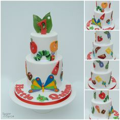 The Very Hungry Caterpillar cake by Sugar & Spice Gourmandise Gifts https://www.facebook.com/SugarandSpiceGourmandise