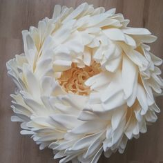 Peony, big flower for wedding, flowers for photo shoot, home decor - Josefine Paper Flowers Craft, Large Paper Flowers, Paper Flower Wall, Plastic Flowers, Flower Wall Decor, Fake Flowers, Flower Crafts, Fabric Flowers, Organza Flowers