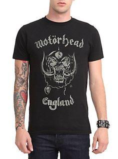 Motorhead England T-Shirt, BLACK