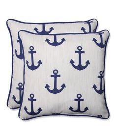 Another great find on #zulily! Ahoy Throw Pillow - Set of Two by Pillow Perfect #zulilyfinds