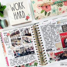 1st week of November in my @carpediemplanners spiral I'm using for memory planning.  Did this spread 'live' last week as a 'plan with me' session in an upcoming Memory Planning YouTube video series for @scrapbookcom Coming soon!! Hoping to work on a few more spreads this weekend  #carpediemplanners #liveloveplan #memoryplanner #memoryplanning