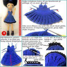 Irresistible Crochet a Doll Ideas. Radiant Crochet a Doll Ideas. Sewing Doll Clothes, Doll Clothes Barbie, Crochet Doll Clothes, Sewing Dolls, Doll Clothes Patterns, Beau Crochet, Crochet Mignon, Cute Crochet, Beautiful Crochet