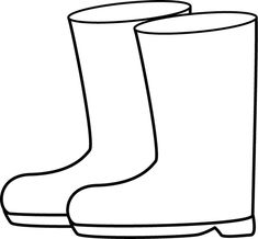 Rain Boots Coloring Page Inspirational Black and White Rain Boots Clip Art Weather – Colorir. Spring Coloring Pages, Cat Coloring Page, Cardboard Crafts Kids, Crafts For Kids, Wooden Pumpkin Crafts, Funky Wellies, White Rain Boots, Black Boots, Leaf Silhouette