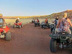 Quad biking on the red dunes of Namibia! Namib Desert, Quad Bike, Places Of Interest, African Safari, Team Building, Travel Around, Monster Trucks, Biking, Activities