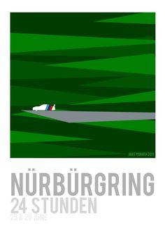 Nurburgring 24 hour race poster