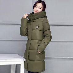 cc9107e462903 2017 hot sale women winter hooded jacket female outwear cotton plus size  3XL warm coat thicken jaqueta feminina ladies camperas
