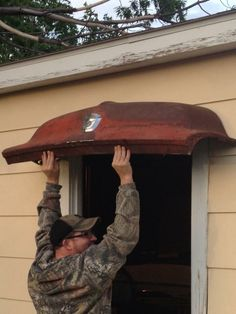 Truck hood awning